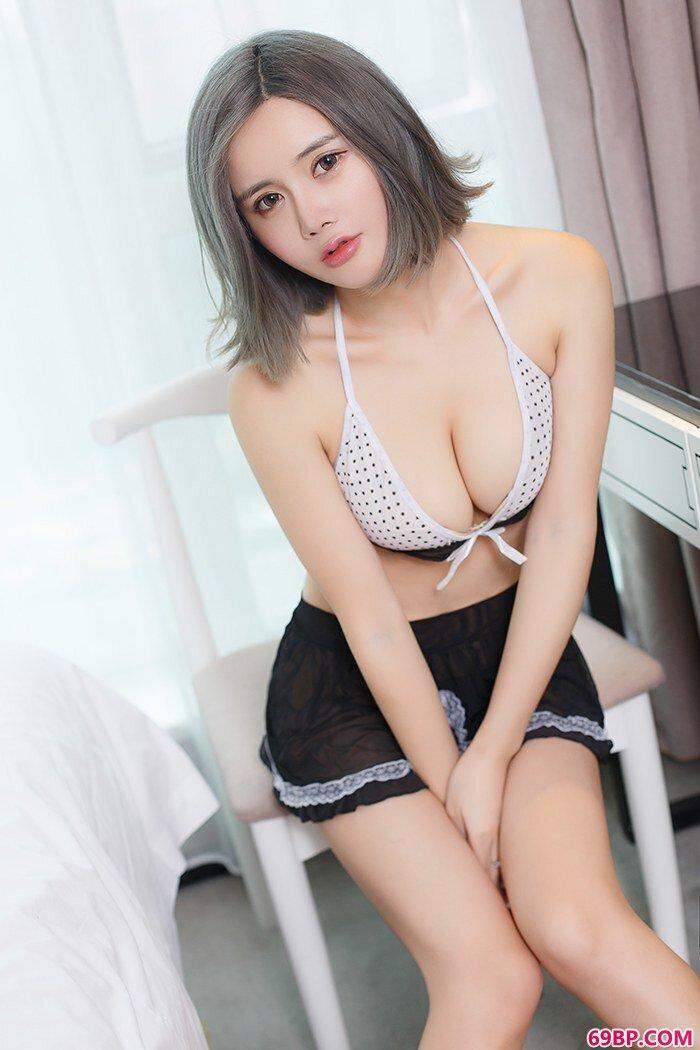 肥臀玉女木木女仆装性感内衣很抢眼_337P大胆日本欧美